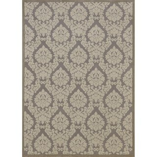 Rug Squared Montrose Silver/ Ivory Abstract Area Rug (5'3 x 7'3)