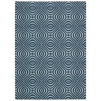 Rug Squared Milford Cadet Blue Graphic Area Rug (2'6 x 8')