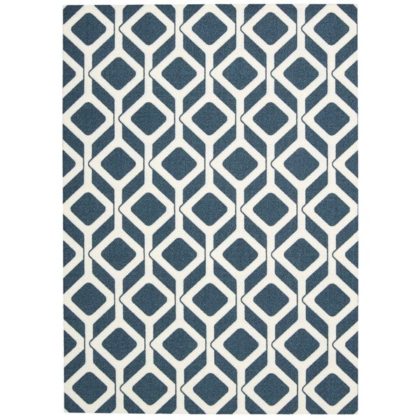 "Rug Squared Milford Cadet Blue Graphic Area Rug - 2'6"" x 8' Runner"