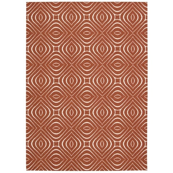 Rug Squared Milford Paprika Graphic Area Rug (2'6 x 4') - 2'6 x 4'