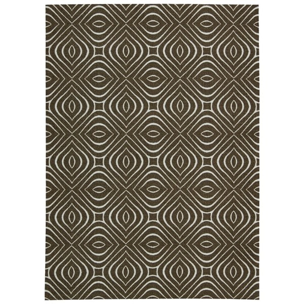 Rug Squared Milford Chocolate Graphic Area Rug (2'6 x 4') - 2'6 x 4'