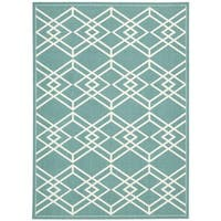 Rug Squared Milford Turquoise Graphic Area Rug (2'6 x 4')