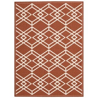 Rug Squared Milford Paprika Graphic Area Rug (2'6 x 4')