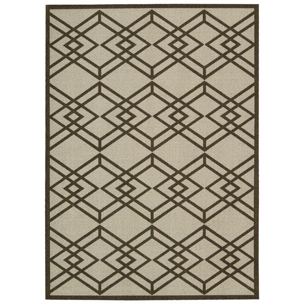 Rug Squared Milford Latte Graphic Area Rug (2'6 x 4')