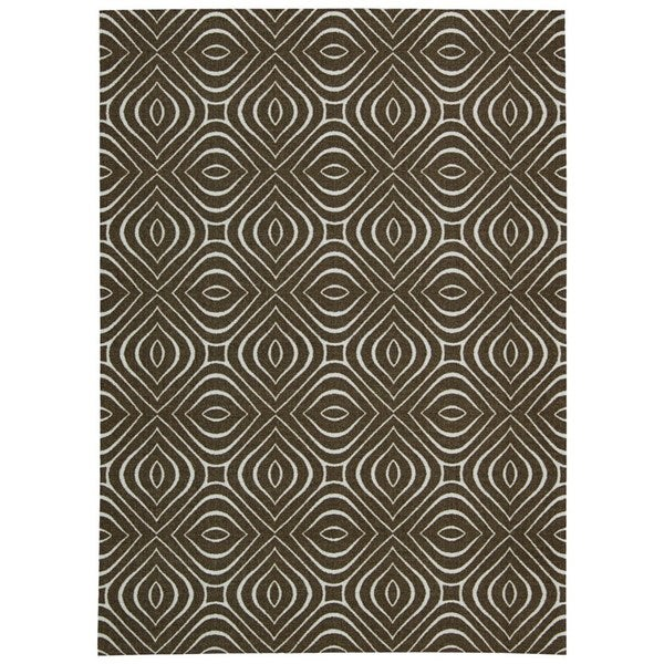 Rug Squared Milford Chocolate Graphic Area Rug (8' x 10')