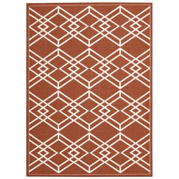 Rug Squared Milford Paprika Graphic Area Rug (8' x 10')