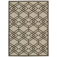 Rug Squared Milford Latte Graphic Area Rug - 5' x 7'