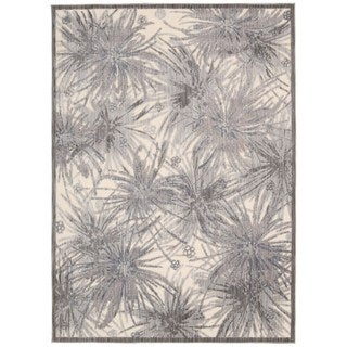 Rug Squared Princeton Ivory/ Grey Abstract Area Rug (7'9 x 9'9)