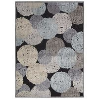 Rug Squared Princeton Multicolor Abstract Area Rug - 7'9 x 9'9