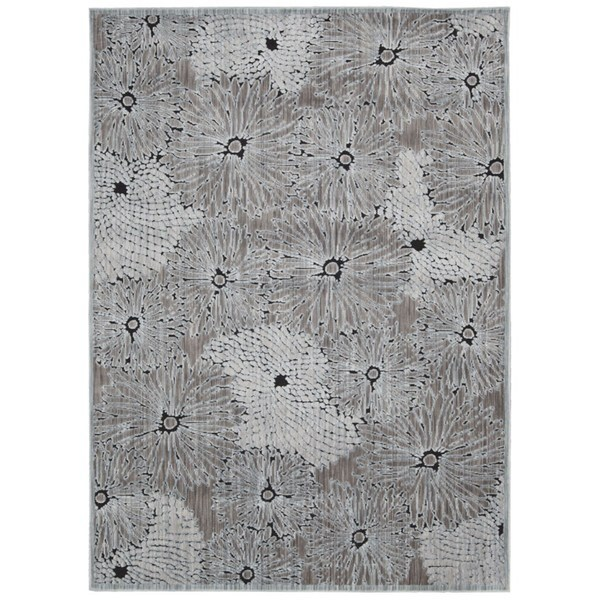 Rug Squared Princeton Seafoam/ Black Abstract Area Rug - 7'9 x 9'9