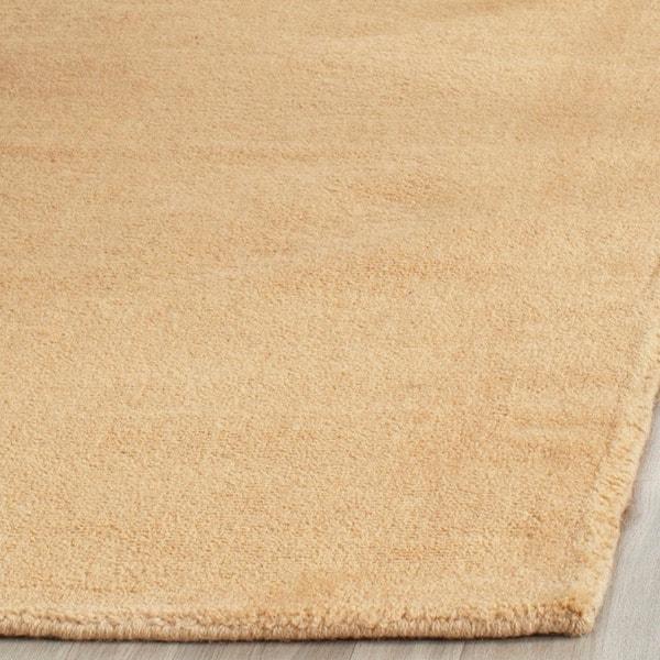 Safavieh Handmade Himalaya Solid Beige Wool Runner Rug (2'3 x 4')