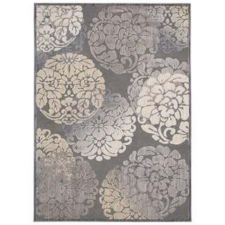 Rug Squared Princeton Grey Abstract Area Rug (5'3 x 7'3)