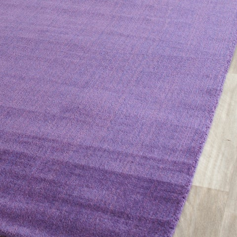 "Safavieh Handmade Himalaya Solid Purple Wool Rug - 2'3"" x 4'"