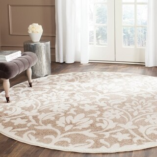 Safavieh Indoor/ Outdoor Amherst Wheat/ Beige Rug (7' Round)