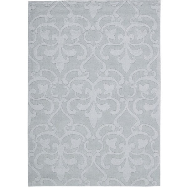 Rug Squared Santa Fe Light Blue Floral Area Rug - 7'9 x 9'9