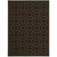 Rug Squared Santa Fe Espresso Graphic Area Rug (7'9 x 9'9) - 7'9 x 9'9
