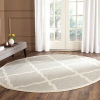 Safavieh Indoor/ Outdoor Amherst Light Grey/ Beige Rug - 7' x 7' Round