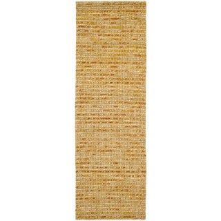 "Safavieh Hand-knotted Bohemian Gold/ Multi Hemp Rug - 2'6"" x 4'"