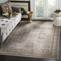 Safavieh Vintage Mouse Brown Distressed Panels Silky Viscose Rug - 2' x 3'