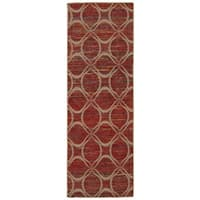 Rug Squared Olympia Paprika Graphic Area Rug - 2'6 x 7'6