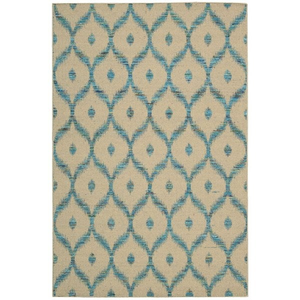 Shop Rug Squared Olympia Beige Turquoise Graphic Area Rug