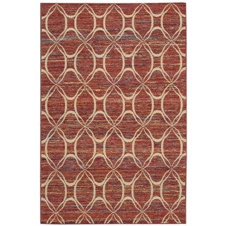 Rug Squared Olympia Paprika Graphic Area Rug (3'9 x 5'9)