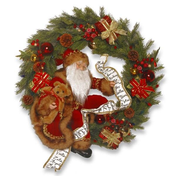 24-inch Wreath with Santa