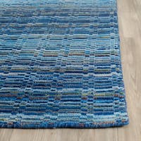 Safavieh Handmade Himalaya Blue/ Multicolored Wool Stripe Rug - 2' x 3'