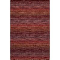 Safavieh Handmade Himalaya Red/ Multicolored Wool Stripe Rug (2' x 3') - 2' x 3'