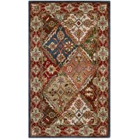 Safavieh Handmade Heritage Traditional Bakhtiari Green/ Red Wool Rug (2' x 3')