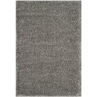 Safavieh Charlotte Shag Grey Plush Polyester Rug - 4' x 6'