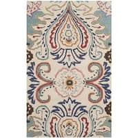 Safavieh Hand-Tufted Bella Ivory/ Blue Wool Rug (2' x 3')
