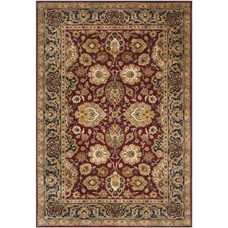 Safavieh Handmade Persian Legend Rust/ Navy Wool Rug (4' x 6')
