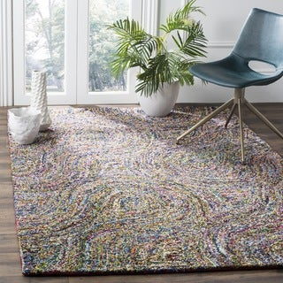Safavieh Handmade Nantucket Modern Abstract Multicolored Cotton Rug (6' x 6' Square)