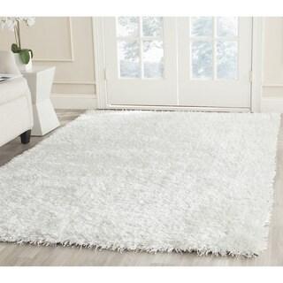 Safavieh Handmade New Orleans Shag Off-White Textured Polyester Rug (2' x 3')