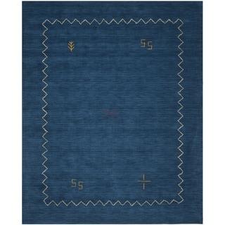 Safavieh Handmade Himalaya Blue Wool Gabbeh Area Rug (10' x 14')