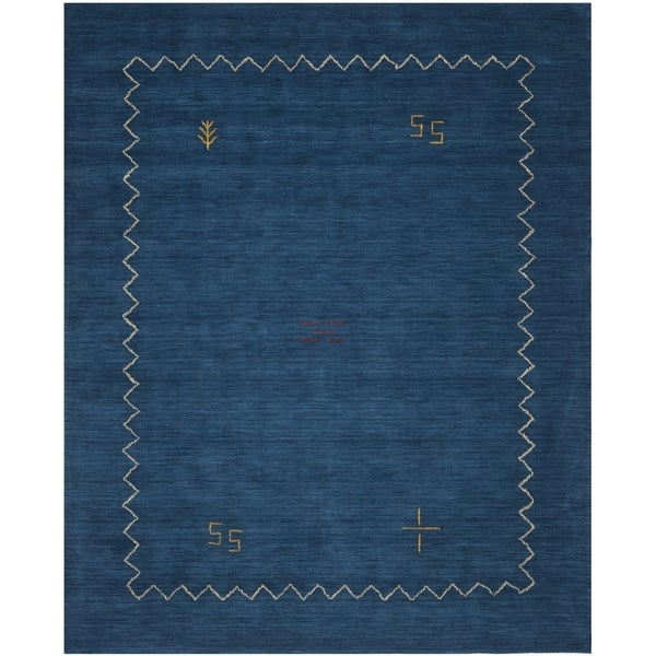 Safavieh Handmade Himalaya Blue Wool Gabbeh Area Rug - 10' x 14'