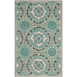 Safavieh Indoor/ Outdoor Four Seasons Mint/ Aqua Rug (2'6 x 4')