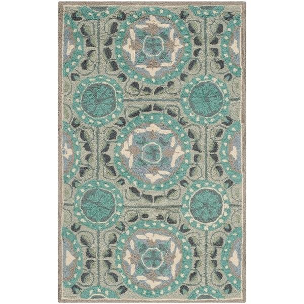 Shop Safavieh Hand-Hooked Four Seasons Mint Green/ Aqua