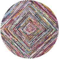 Safavieh Hand-Tufted Nantucket Multi Cotton Rug - 6' Round