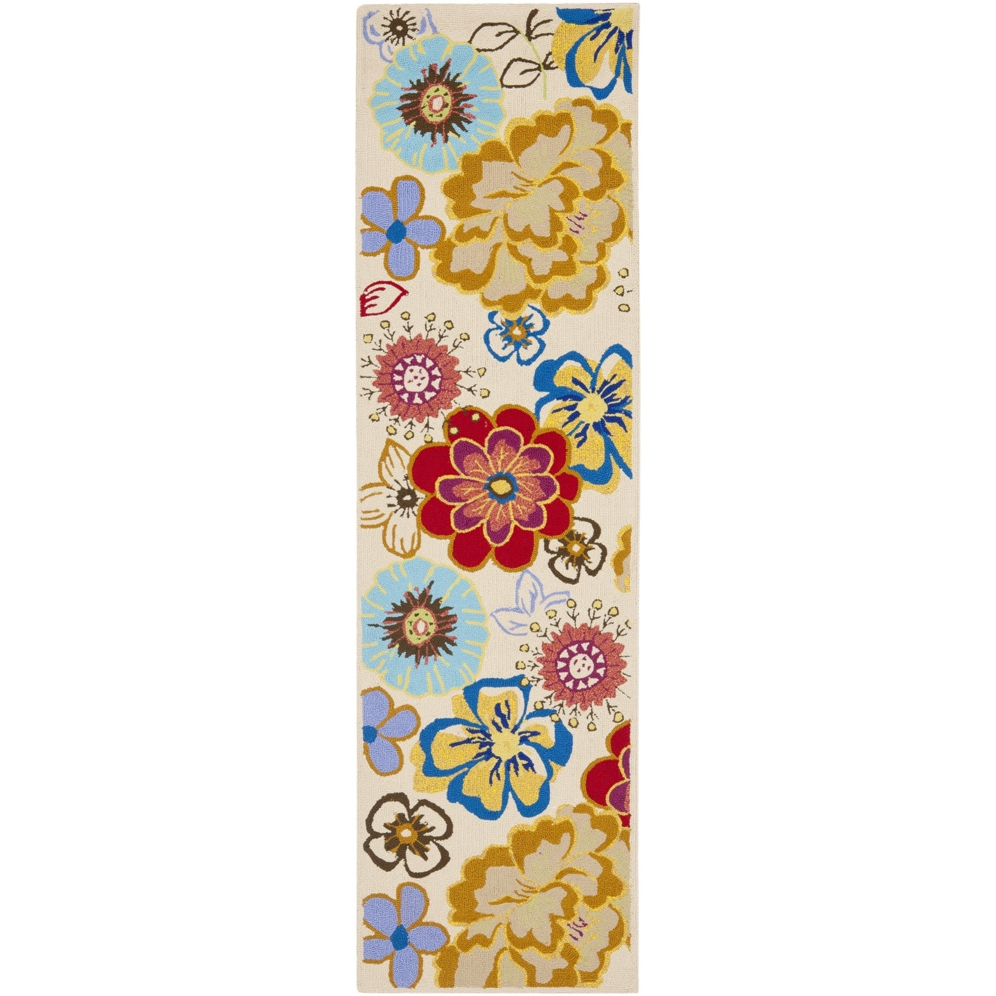 Safavieh Hand-Hooked Four Seasons Ivory / Multi Polyester...