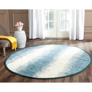 Safavieh Hand-woven Montauk Blue Cotton Rug (6' Round)