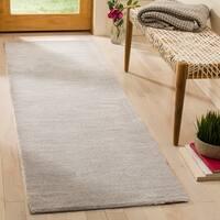 Safavieh Handmade Himalaya Grey Wool Runner Rug - 2'3 x 18'