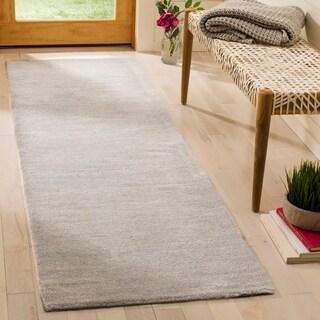 Safavieh Handmade Himalaya Solid Grey Wool Runner Rug (2'3 x 16')
