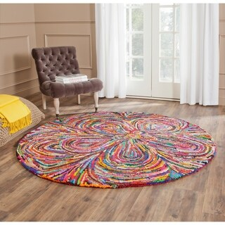 Lnr Home Vibrance Multi Colored Floral Wool Rug 5 Round