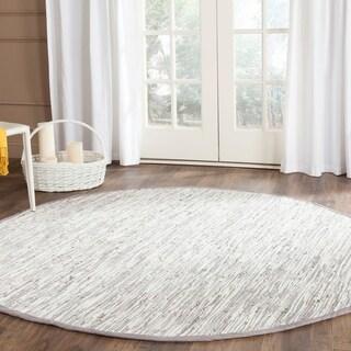 Safavieh Hand-woven Montauk Silver Cotton Rug (6' Round)