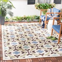 Safavieh Indoor/ Outdoor Veranda Cream/ Terracotta Rug - 2'7 x 5'