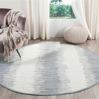 Safavieh Hand-woven Montauk Grey Cotton Rug (6' Round)