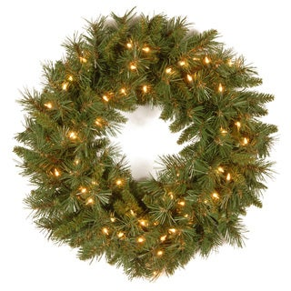 '24' Tiffany Fir Wreath with 50 Clear Lights