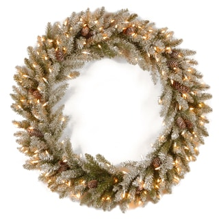 24-inch Wreath with Clear Lights